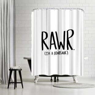 Leah Flores Rawr I'm A Dinosaur Single Shower Curtain