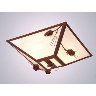 Steel Partners Ponderosa Pine Drop 2-Light Flush Mount