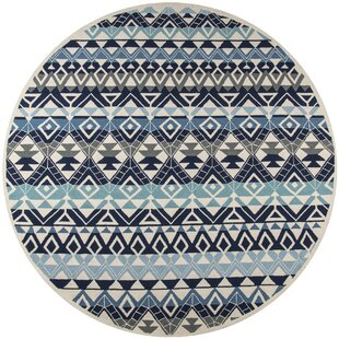 Aderdour Hand-Hooked Blue Indoor/Outdoor Area Rug