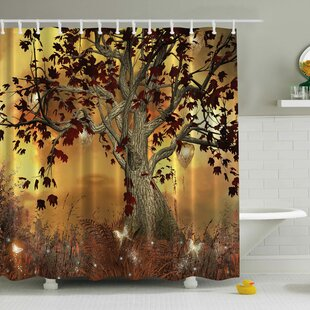 Nella Old Scary Twisted Tree Print Shower Curtain By East Urban Home