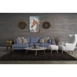 Shelburne 5 Piece Living Room Set With High Back Chair