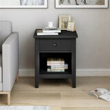 Mikah 1 - Drawer Solid Wood Nightstand by Red Barrel Studio®