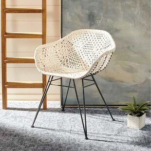 Vicky Leather Woven Dining Chair (Set of 2)