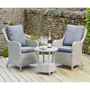 Highsmith 2 Seater Rattan Conversation Set By Sol 72 Outdoor