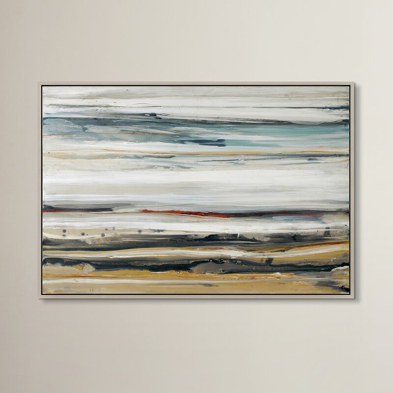 Wade Logan Color Swathe Framed Painting Print on Canvas & Reviews ...