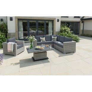 Inwood 6 Seater Rattan Corner Sofa Set Image