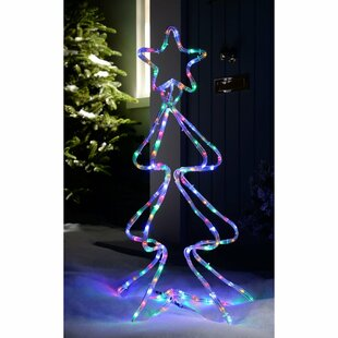 Pre-Lit Christmas Tree Rope Lighted Display By The Seasonal Aisle