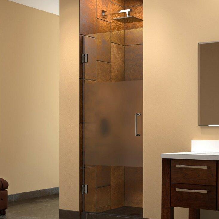 Unidoor 72  x 29  Hinged Frameless Shower Door with ClearMax™ Technology & DreamLine Unidoor 72