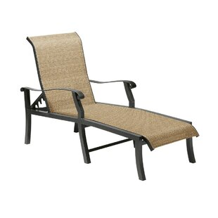 Woodard Cortland Sling Reclining Chaise Lounge