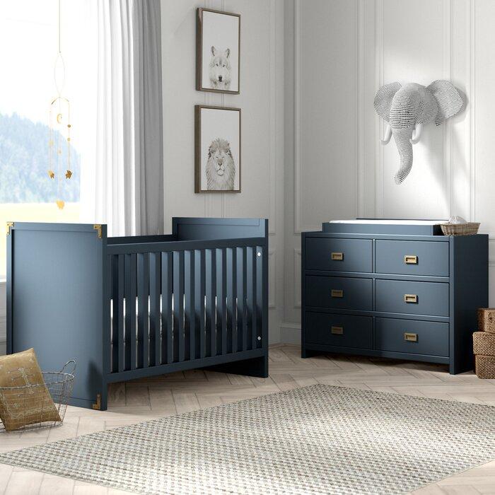 Wilmslow 2 In 1 Convertible Standard Piece Nursery Furniture Set