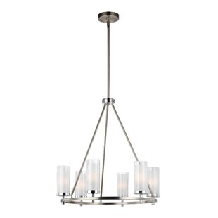 Brayden Studio Mikolas 6-Light Shaded Chandelier