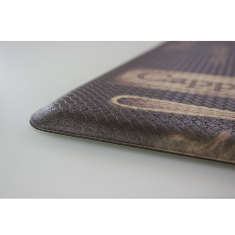 wellnessmats kitchen anti dp brown trellis amazon com dining motif mat by fatigue inch