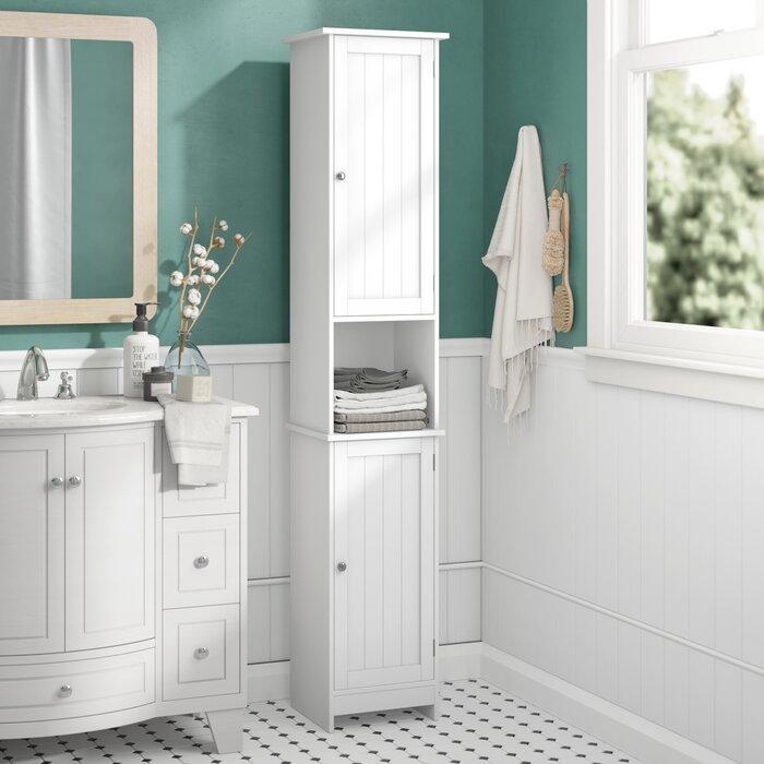 dcf6b6e13b18 Wildon Home Vida Priano 32 x 170cm Free Standing Tall Bathroom Cabinet &  Reviews   Wayfair.co.uk