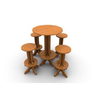 Wedgewood Furniture Palladian Line 5 Piece Teak Bar Height Dining Set