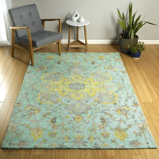 Eisner Mint Hand-Tufted Mint/Yellow Indoor/Outdoor Area Rug