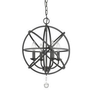 Wrought Studio Mortimer 4-Light Globe Chandelier