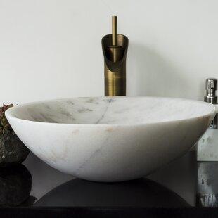 Compare & Buy Brielli Stone Circular Vessel Bathroom Sink ByY Decor