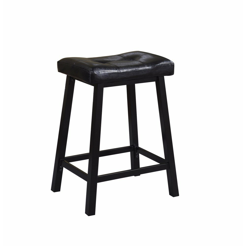 Miraculous Lahey Upholstered Tufted Backless 24 Counter Height Bar Stool Pabps2019 Chair Design Images Pabps2019Com
