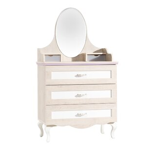 Price comparison Bax 3 Drawer Chest with Mirror by Harriet Bee Reviews (2019) & Buyer's Guide