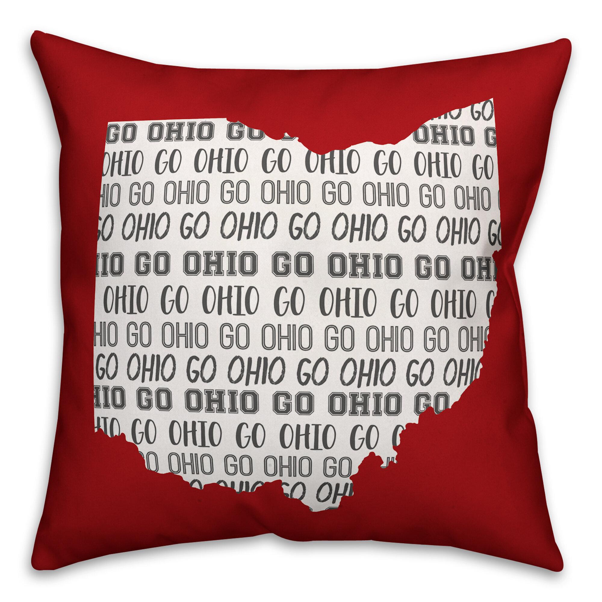 Ebern Designs Devine Go Ohio Indoor Outdoor Throw Pillow Wayfair