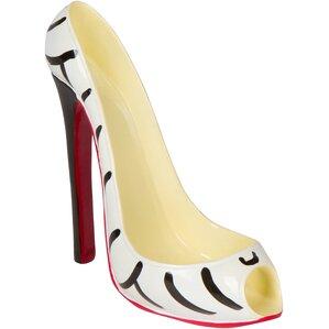 Zebra High Heel 1 Bottle Tabletop Wine Ho..