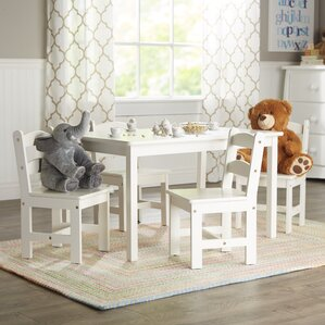 Rickey Kids 5 Piece Table Chair Set