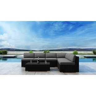 Glendale 7 Piece Sectional Set with Sunbrella Cushion by Everly Quinn