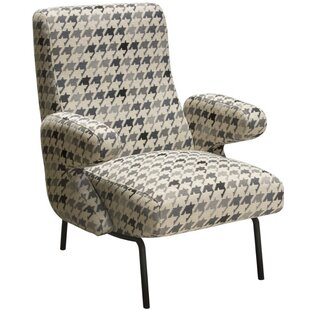 Lou Houndstooth Pattern Armchair by Brayden Studio
