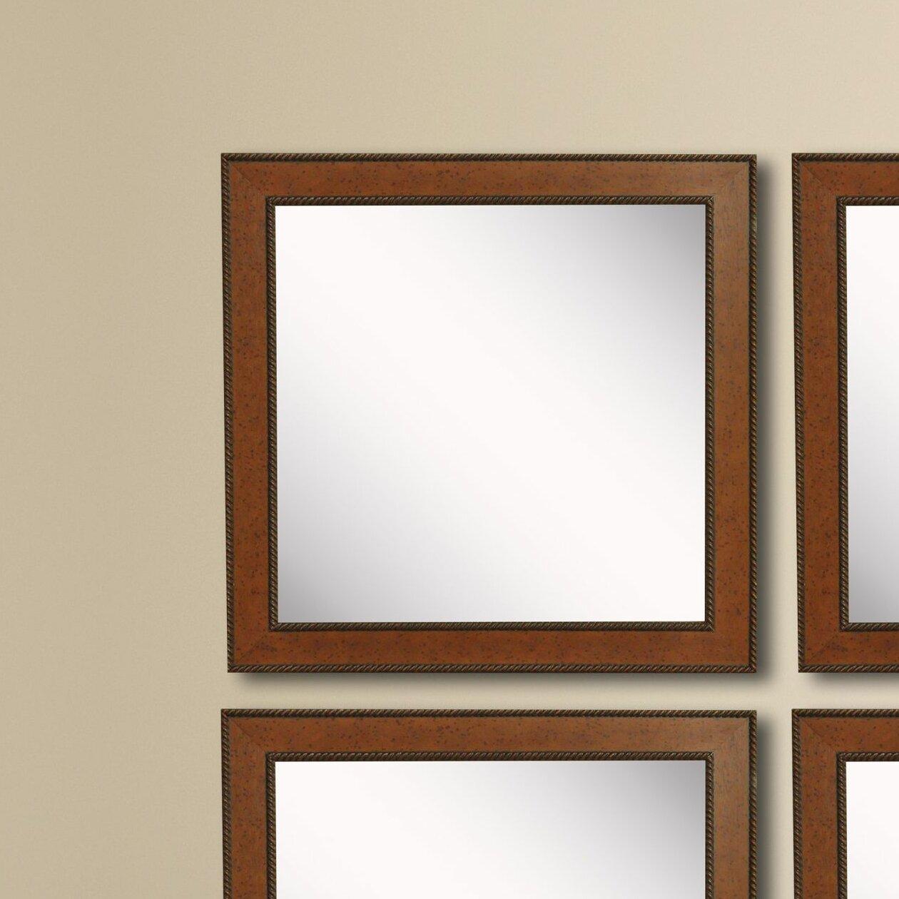 Charlton Home 4 Piece Kimzey Western Rope Rustic Wall Mirror Set Wayfair