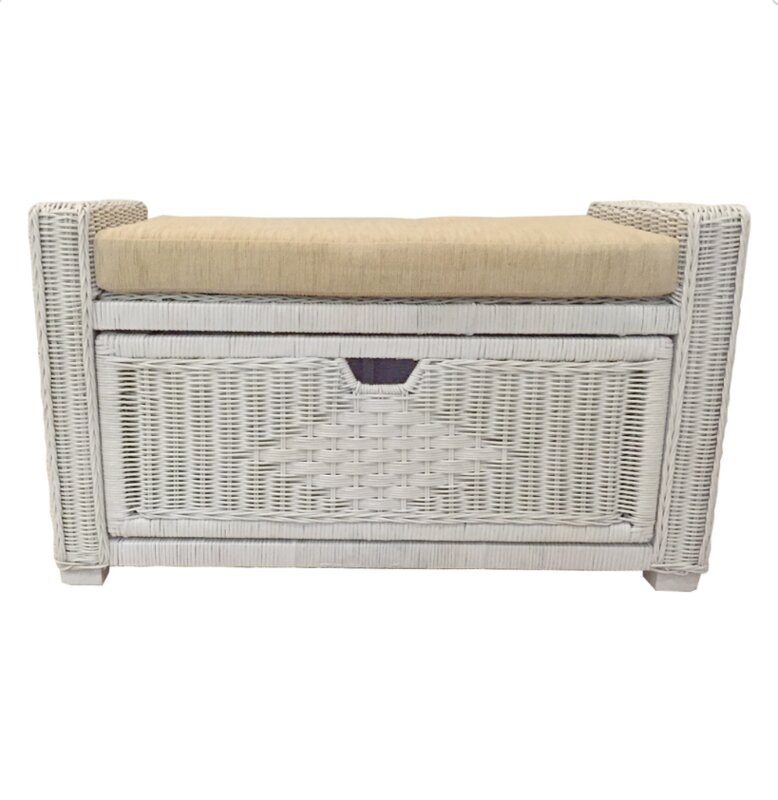 Perfect Eva Rattan Wicker Storage Trunk
