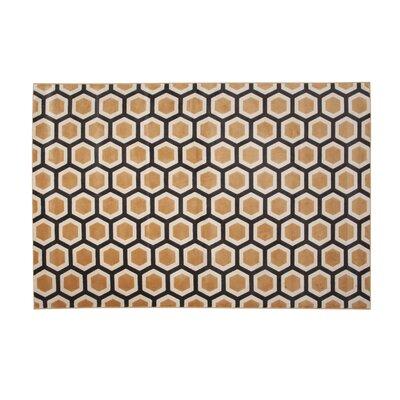 Becker Honeycomb Tangerine Area Rug Corrigan Studio