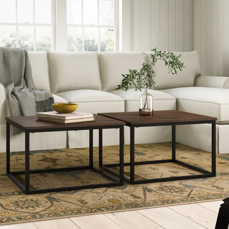 Hensley 2 Piece Square Coffee Table Set