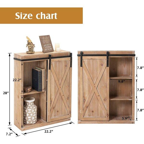 "Akini 22.2"" W x 28"" H x 7.2"" D Solid Wood Wall Mounted Bathroom Cabinet"