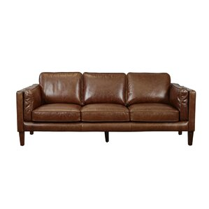 Union Rustic Shelli Leather Sofa Image