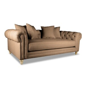 Esters Plush Deep Chesterfield Sofa