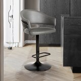 McBain Swivel Adjustable Height Bar Stool by Ebern Designs
