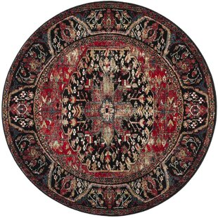 Mccall Red/Black Area Rug by Bloomsbury Market