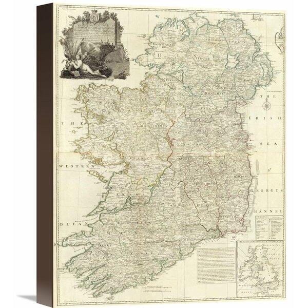 Global Gallery Composite Ireland 1790 By John Rocque Graphic Art On Wrapped Canvas Wayfair