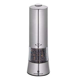 Gera Stainless Steel/Acrylic Electric Pepper Mill