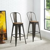 Pedro Metal 30 Bar Stool (Set of 2) by Laurel Foundry Modern Farmhouse