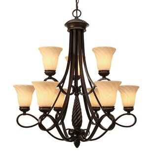 Darby Home Co Hoopeston 9-Light Shaded Chandelier