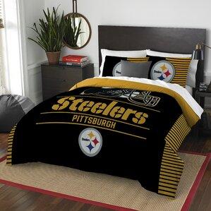NFL Steelers Draft 3 Piece Full/Queen Comforter Set
