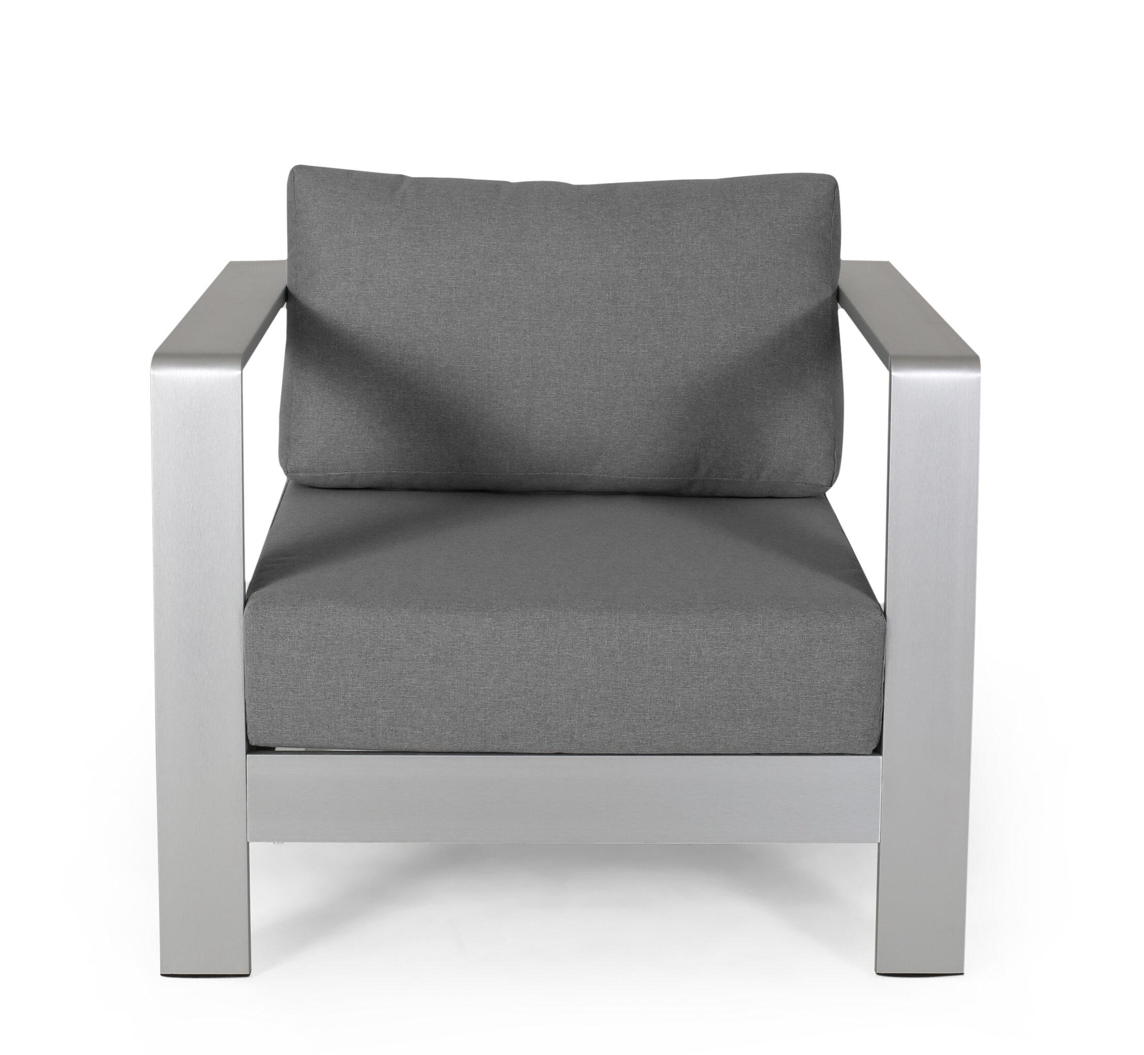 Orren Ellis Wolsingham Outdoor Patio Chair With Cushions Reviews Wayfair