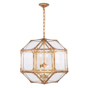 Puccio 4-Light Geometric Chandelier by One Allium Way