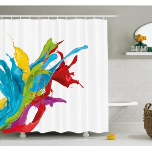 Compare & Buy Surreal Fluid Liquid Flowing Paint Splash Featured Digital Artful Graphic Shower Curtain Set By Ambesonne