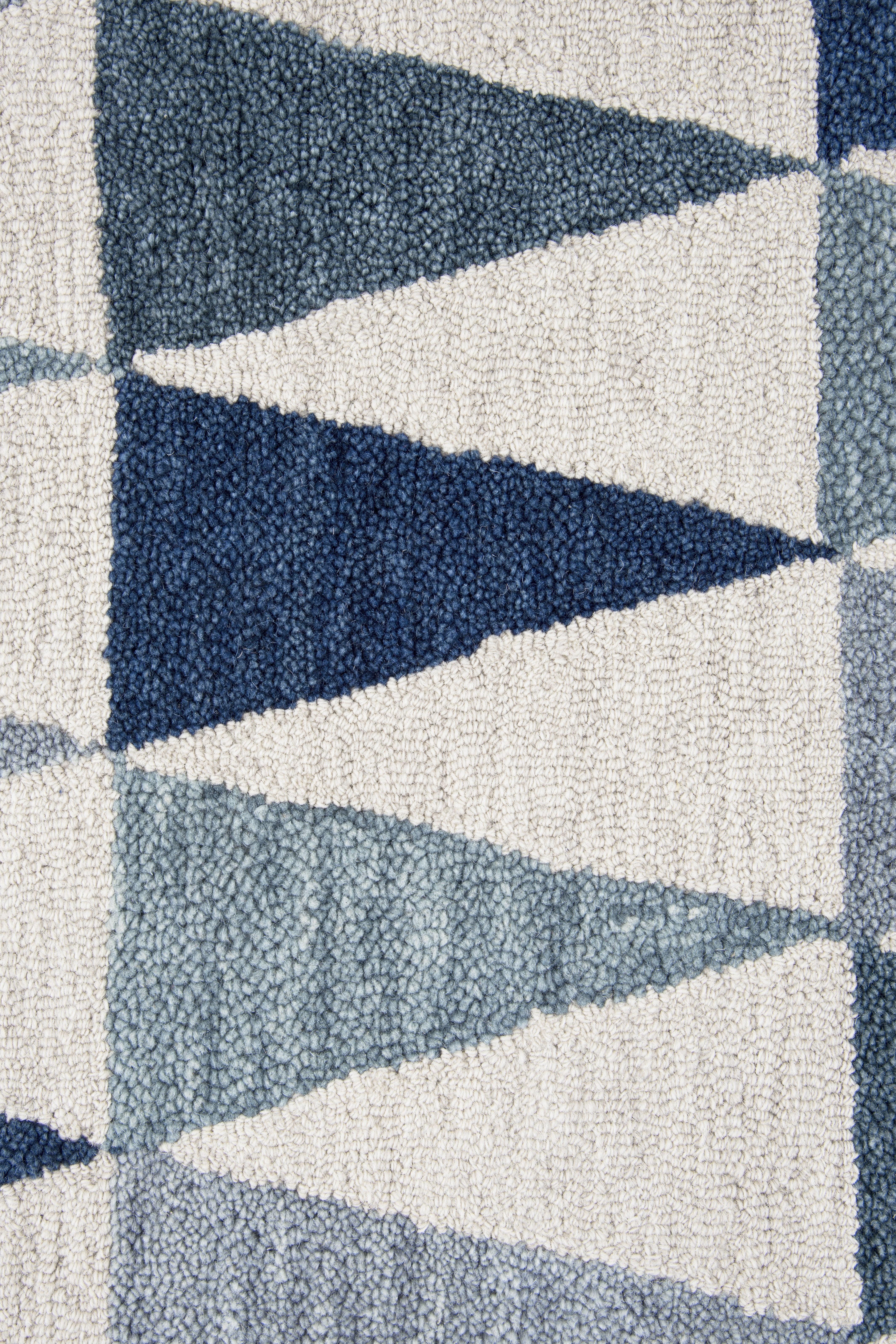 Corrigan Studio Malcolm Hand Tufted Wool GrayBlue