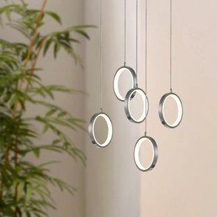 Orren Ellis Lauri 5-Light LED Cluster Pendant