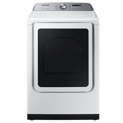 7.4 cu. ft. High Efficiency Electric Dryer with Steam Sanitize+ Samsung Color: White