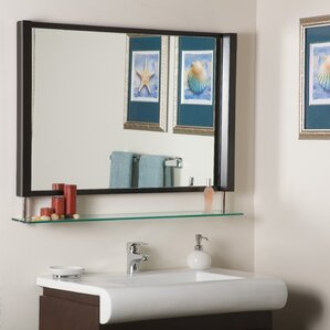 Wall Mirror With Shelf shelf or drawer mirrors you'll love | wayfair