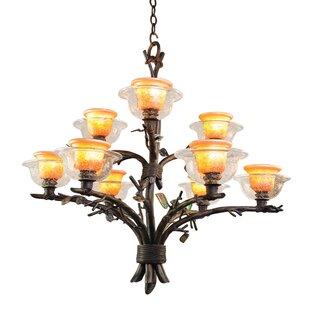 Kalco Cottonwood 9-Light Shaded Chandelier